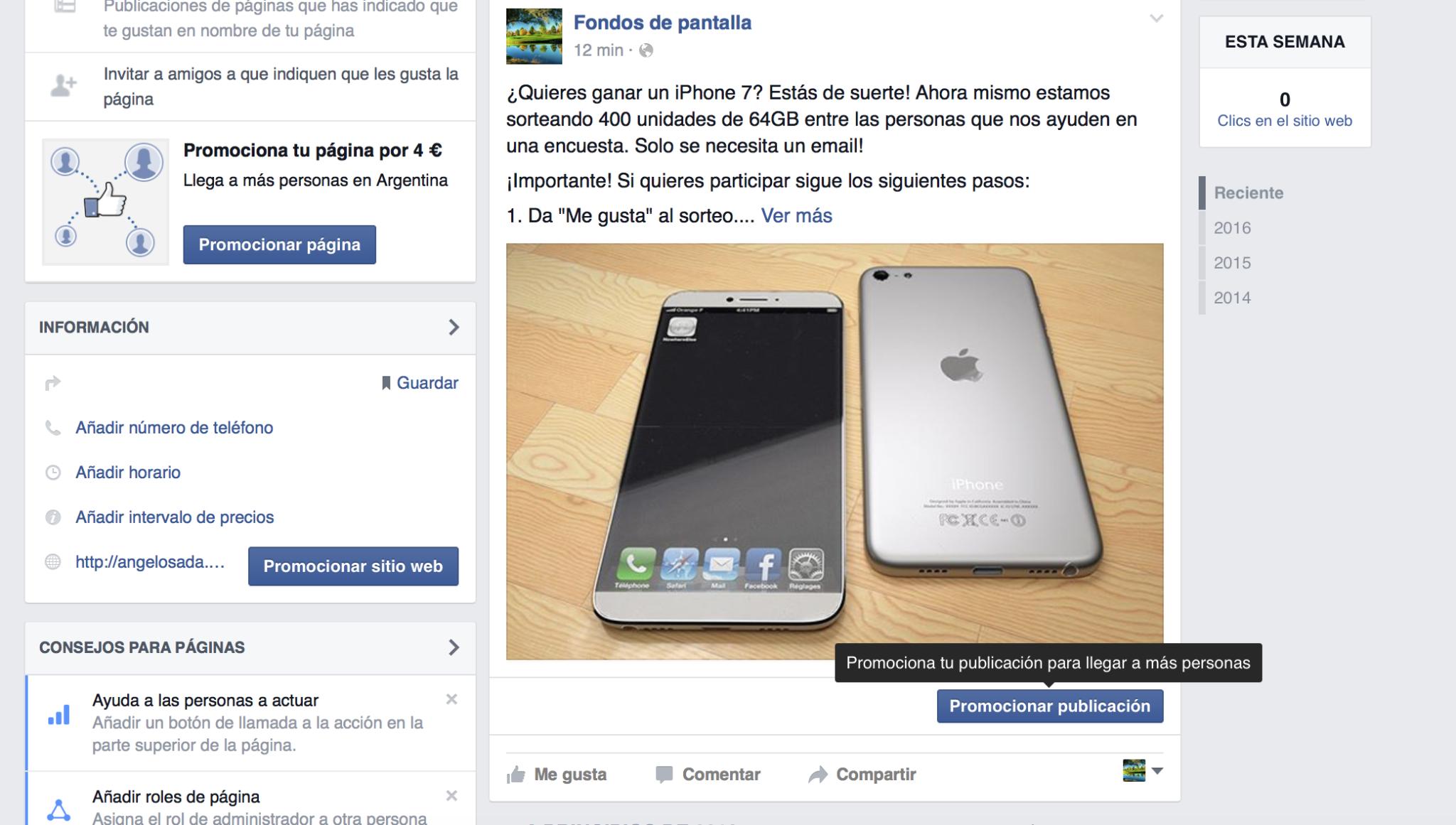 promocionar campaña facebook ads