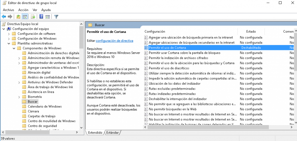 desactivar windows defender windows 10 2019