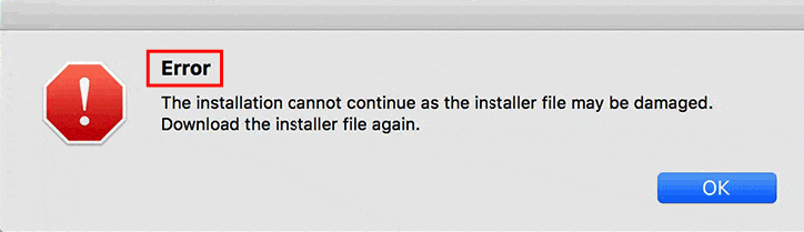 "[Solución] Mac Adobe Photoshop ""The installation cannot continue as the installer file may be damaged. Download the installer file again."""